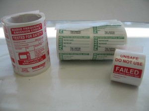 Typical PAT testing labels